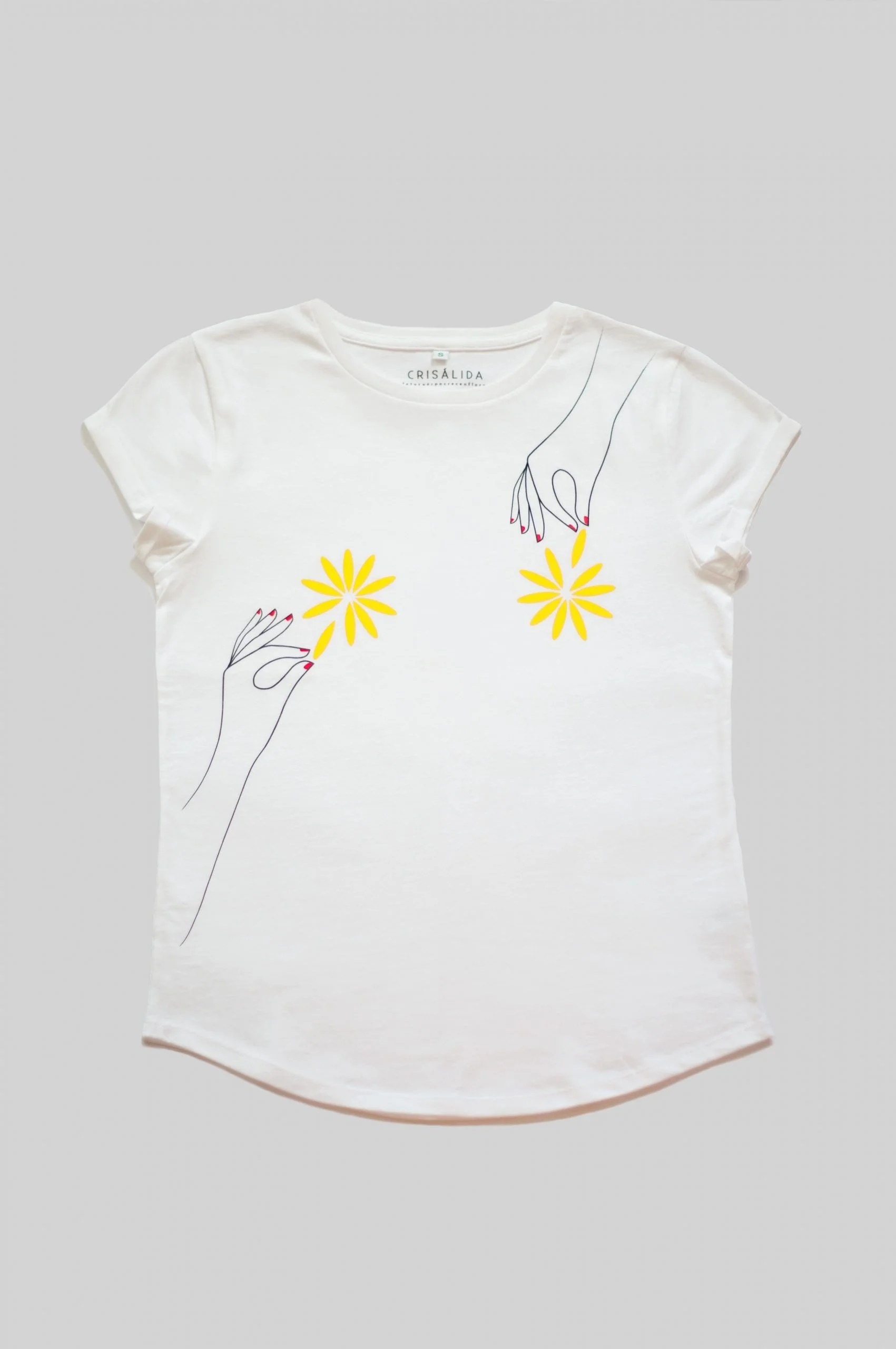 Camiseta-Blanca-Algodón-Orgánico-Flores-Crisálida14