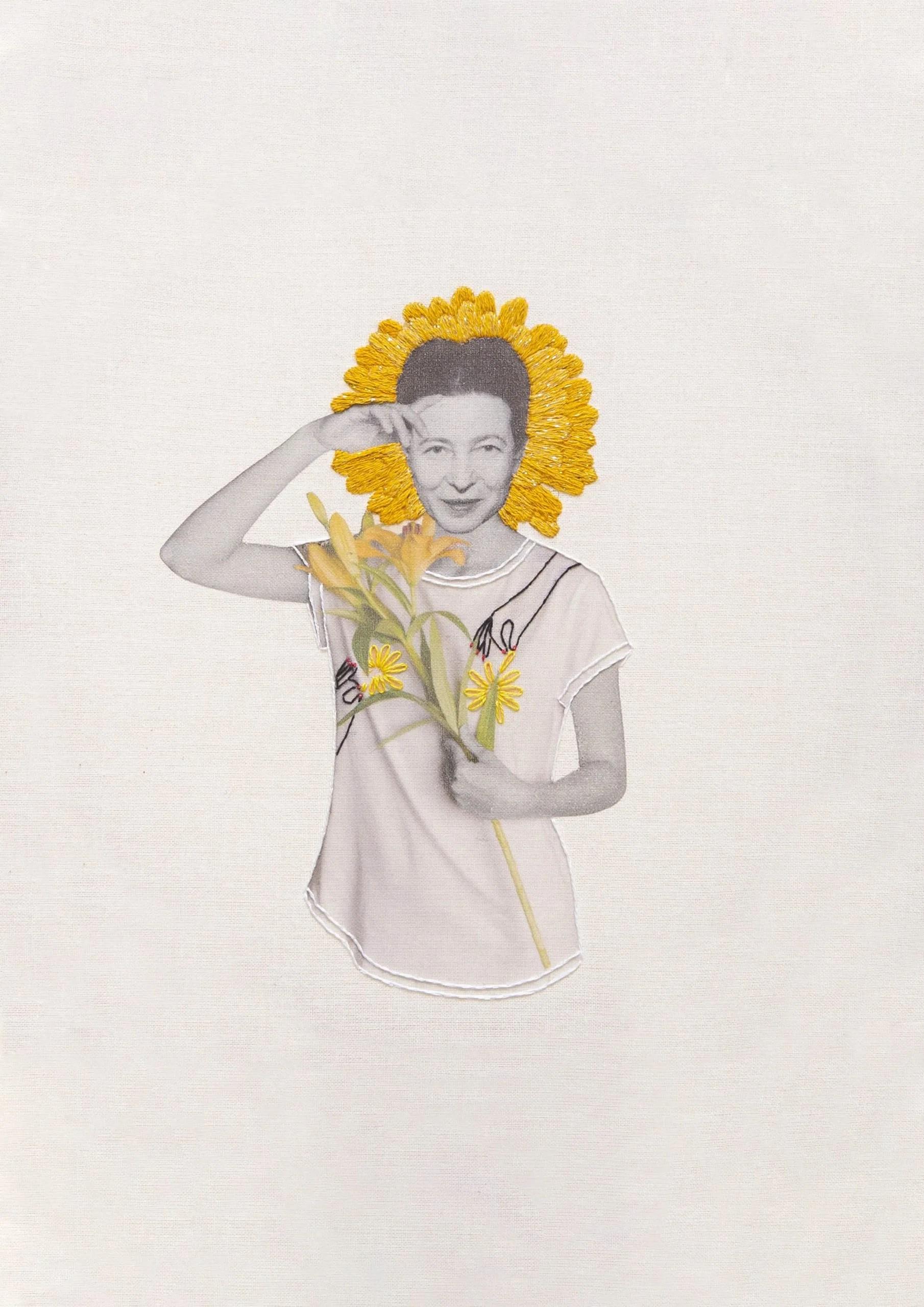 Simone de Beauvoir Collage Studio Variopinto Crisálida2