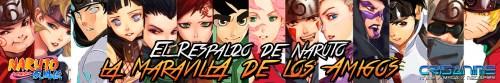 Naruto Shippuden El Respaldo de Naruto La Maravilla de los Amigos Banner