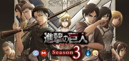 Shingeki no Kyojin Season 3 MEGA MediaFire Openload Google Drive Zippyshare Portada