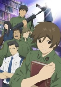 Toshokan Sensou Anime Poster