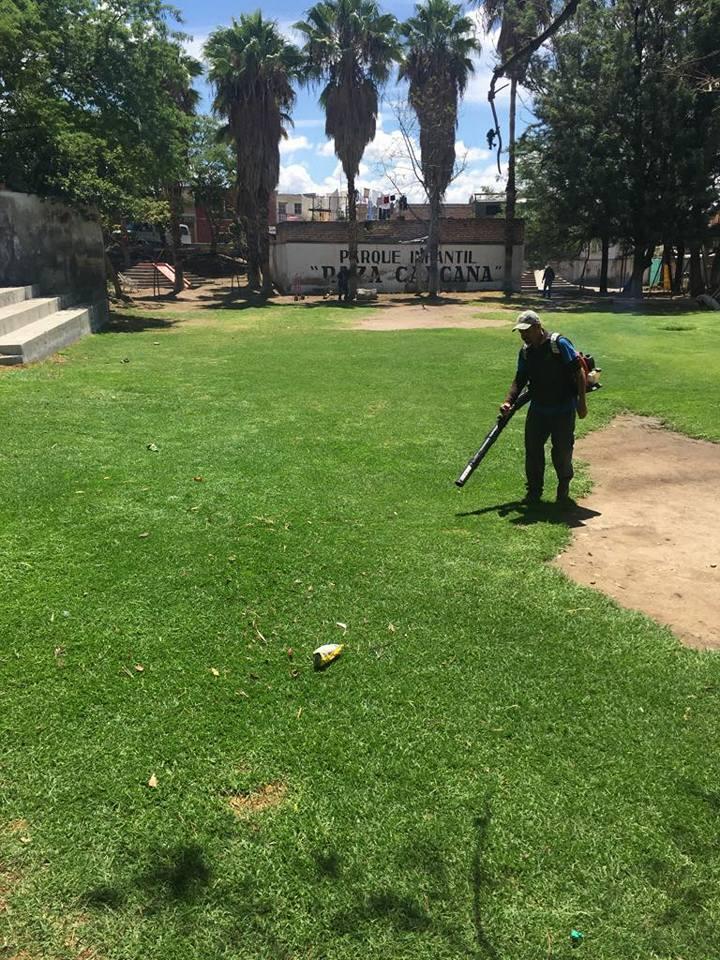Mantenimiento y poda en parque raza caxcana gobierno - Mantenimiento parques y jardines ...