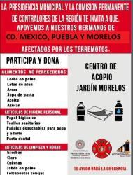 Apoya a hermanos afectados por el sismo