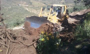 Rehabilitación de caminos rurales en el norte de Nochistlán