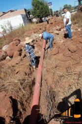 Avance de linea de drenaje al Trigo