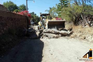 Inicia la reconstrucción de la calle principal en Las Animas