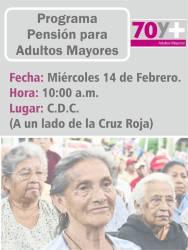 Entrega de pensión para adultos mayores