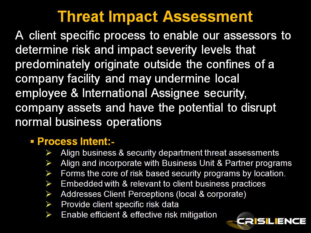 Threat Impact Assessment 1