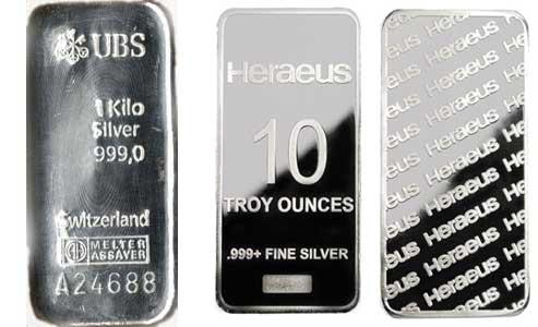 Lingotes de plata UBS - Heraeus