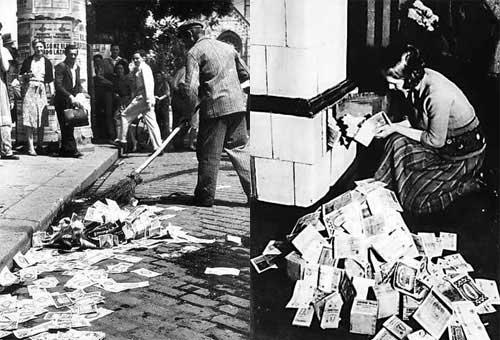 Hiperinflacion en la Republica de Weimar en los años 20