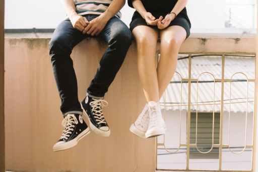 people wearing sneakers