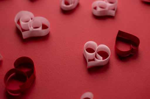 paper hearts for valentines day decoration