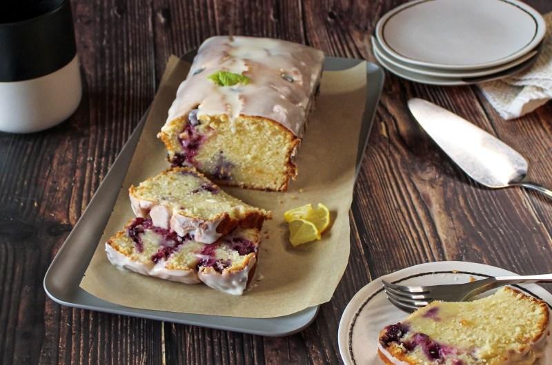 Iced Blueberry Lemon Pound Cake