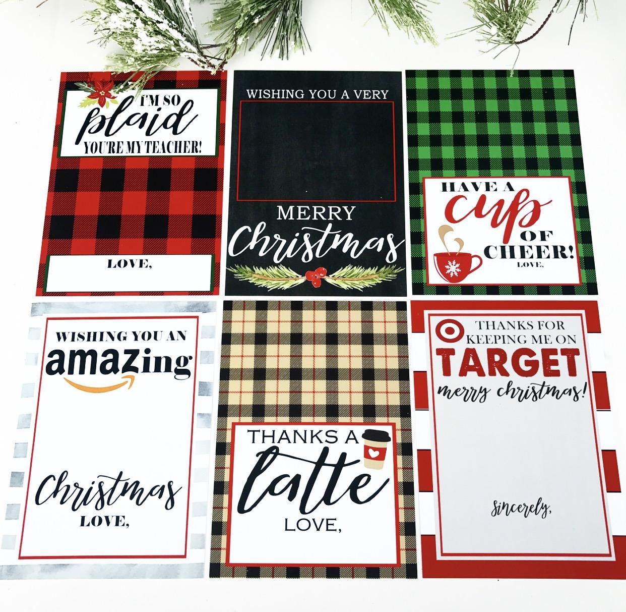 Christmas Gift Card Holer Free Printables Crisp Collective