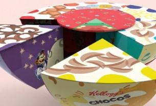 упаковка в форме торта, хлопья, Kellogg's
