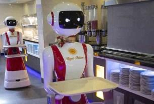 Royal Palace, роботы-официанты, Нидерланды