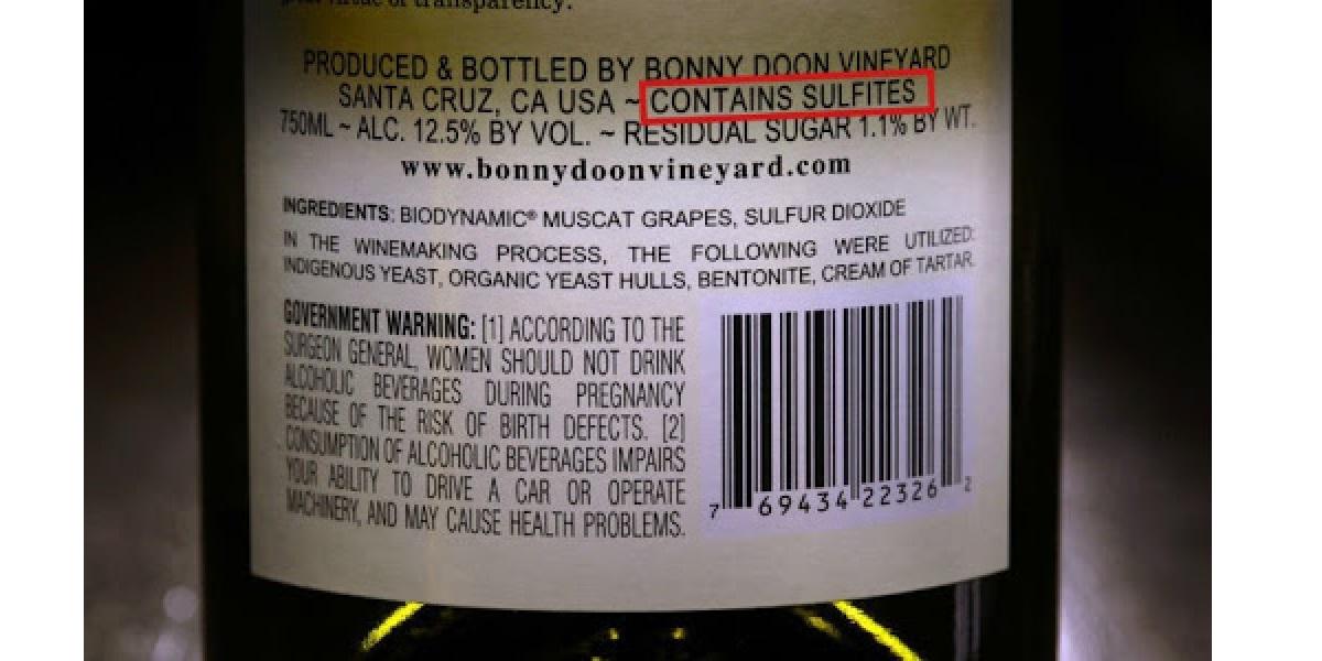 Вино, состав, сульфиты