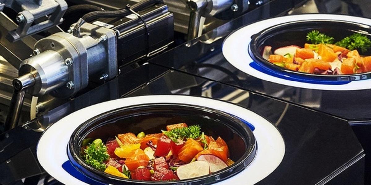 робот-повар, поке,, «Много лосося»
