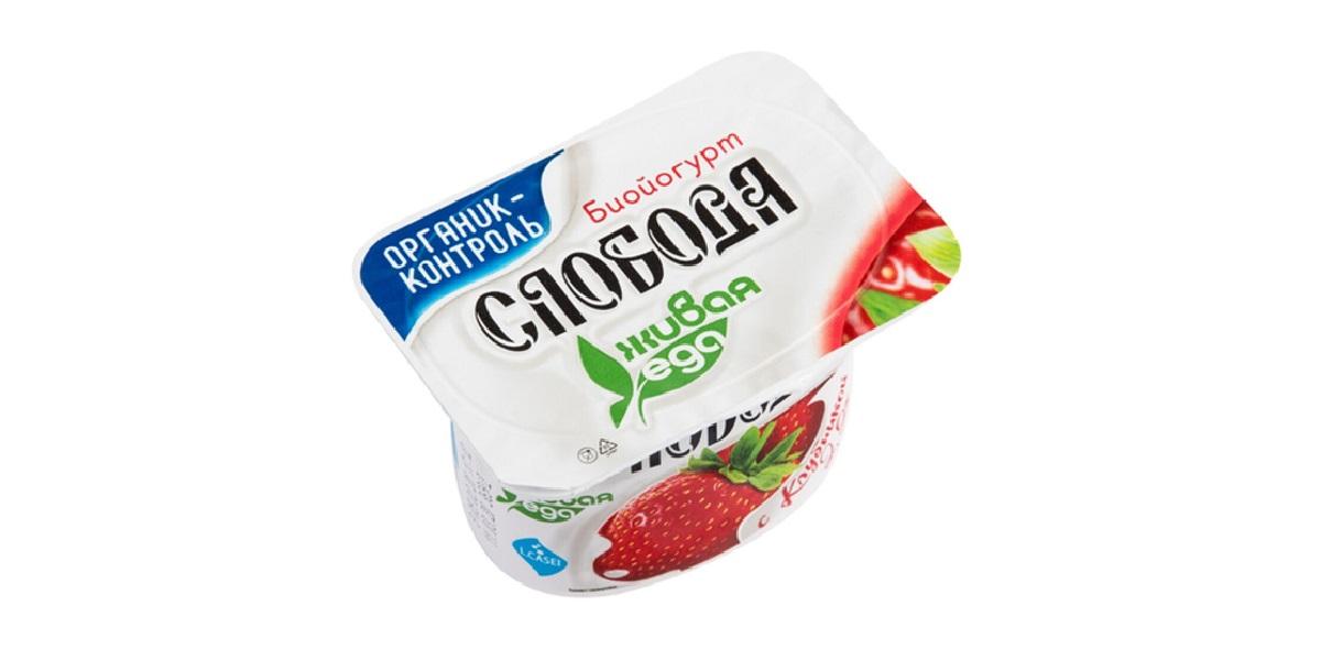 «Слобода», клубничный йогурт, Роскачество, знак качества, лучше лучшего