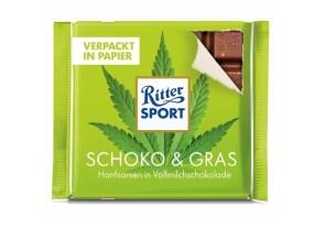 Ritter Sport, бумага, семена конопли «Schoko & Gras», Австрия
