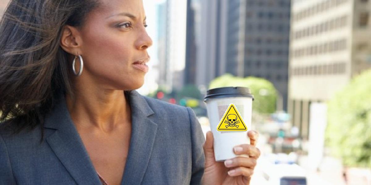 Кофе, стакан, опасность