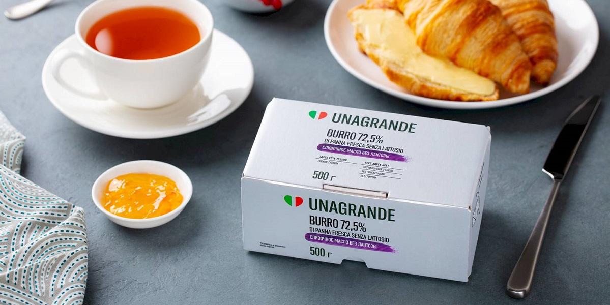 Umalat, сливочное масло без лактозы, Di Panna Fresca Senza Lattosio Unagrande