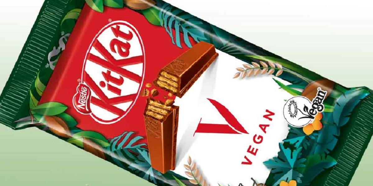 KitKat V, веганский KitKat V, веганский шоколад, KitKat V на рисовой смеси, KitKat V без молока