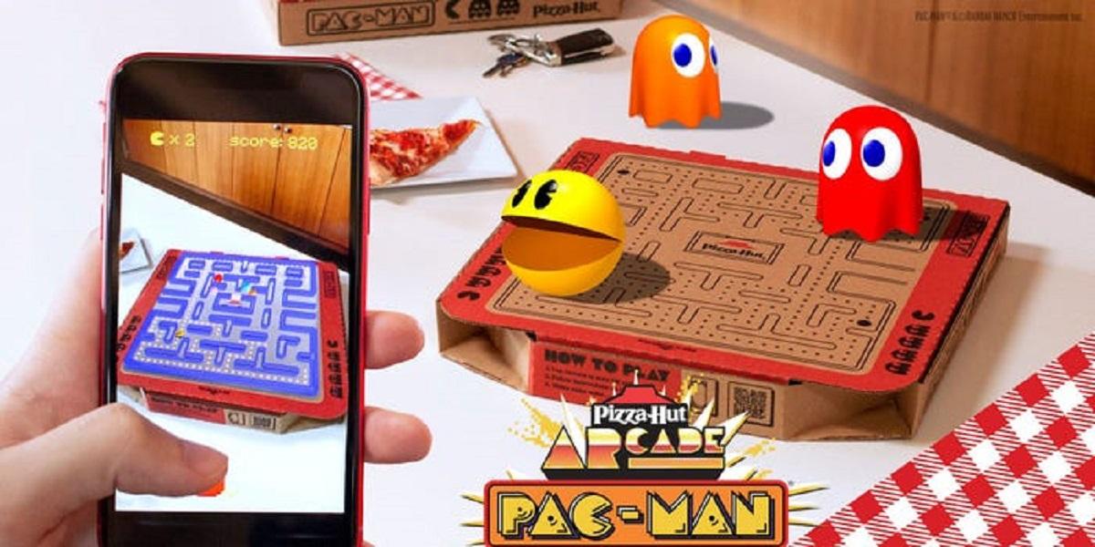 Pac-Man, Pizza Hut, пицца Pac-Man, виртуальная пицца
