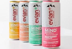Evian+, газированная вода, функциональная вода, Evian+ в США
