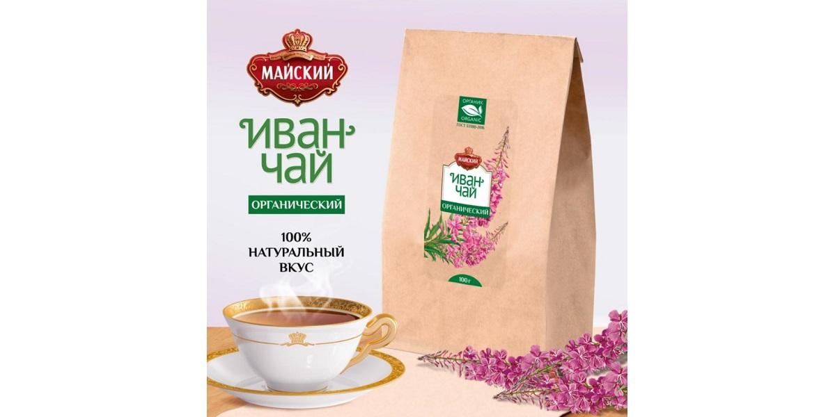 Бренд «Майский», органический иван-чай, органика
