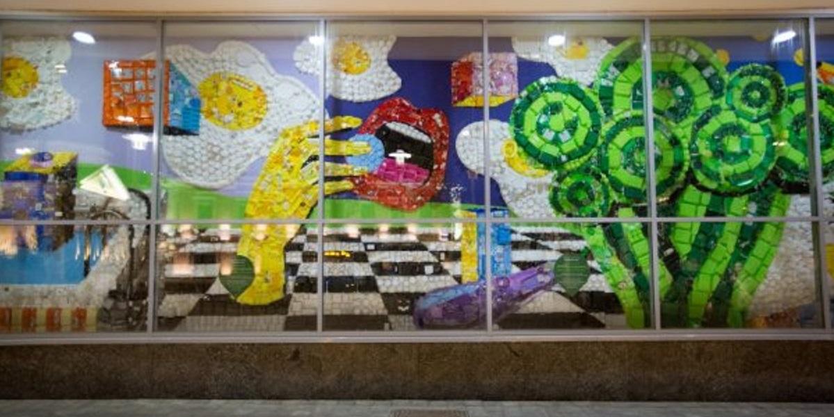«Перекрёсток», Москва, вторсырье, пластик, экология, панно, арт-объект