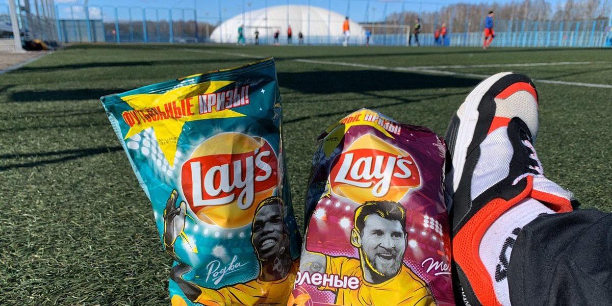 Lay's, Lay's RePlay, международная программа, пустые пачки из-под чипсов, футбольные поля