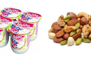 йогурт и орехи, ферменты клетчатка, исследование пользы, что полезнее