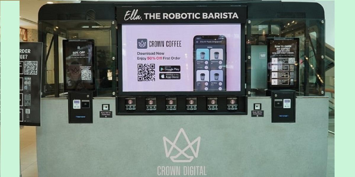 Crown Digital, робот-бариста, кофе от робота