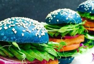 Китай, тренды, голубые бургер