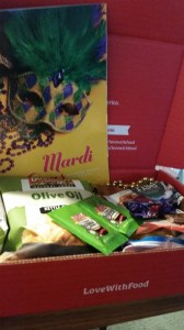 My Love With Food box for the month of February arrived today, 2/14/2015!