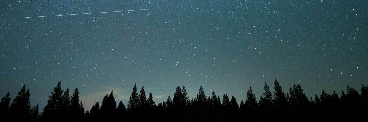 night sky and meteor