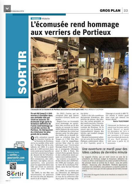 L'Ecomusée rend hommage aux verriers de Portieux