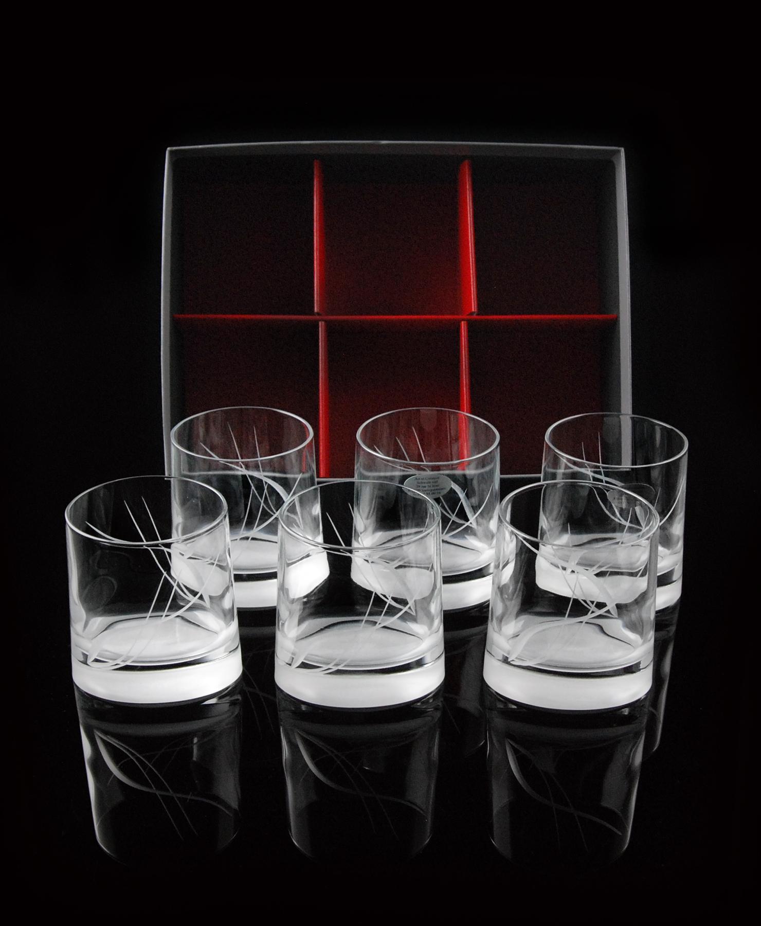 coffret de 6 verres a eau ou a whisky veronese forme basse