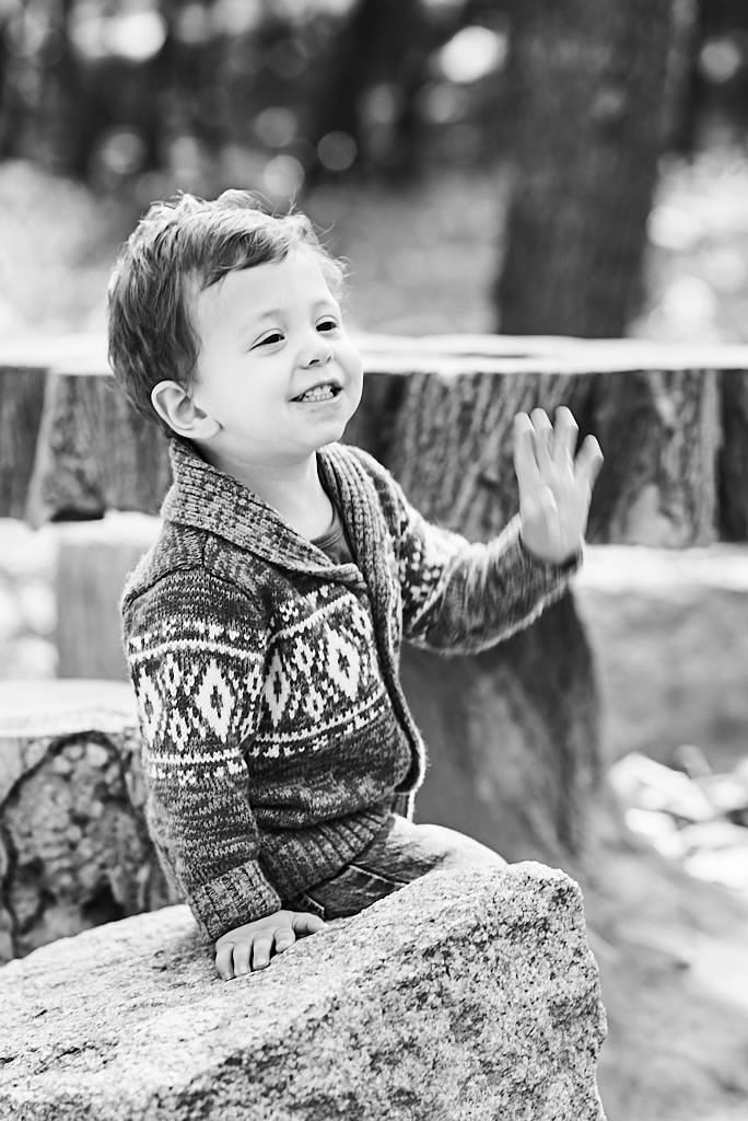 Child portrait (toddler) in black and white