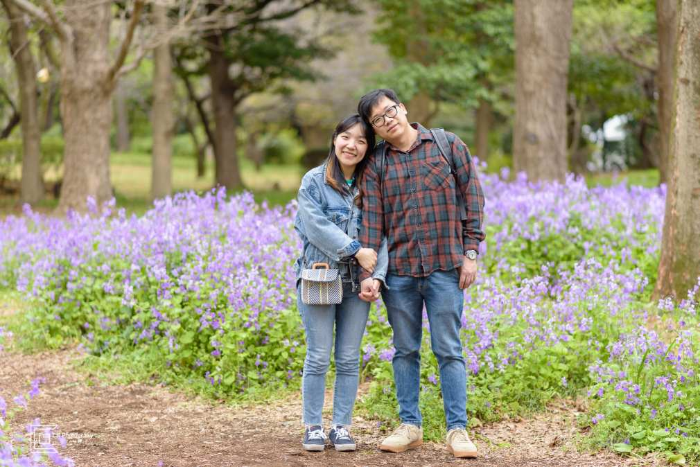 Couple portrait at Imperial Gardens Tokyo