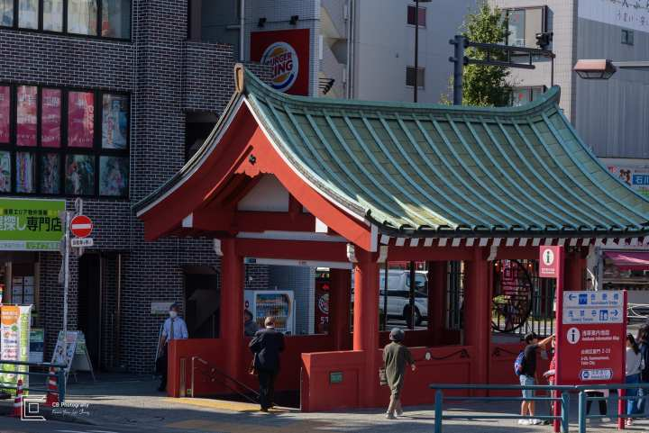 Asakusa subway entrance. Photo by Cristian Bucur Photographer in Tokyo