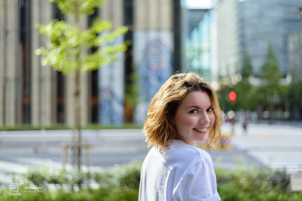Portrait in nearby Tokyo Station by Cristian Bucur portrait photographer