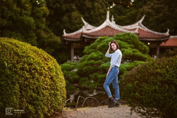 Portrait in the Japanese Garden in Shinjuku Gyoen National Park