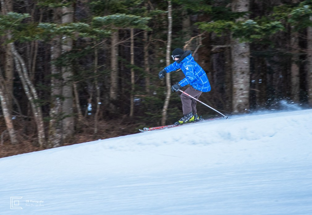 Winter sports photography session