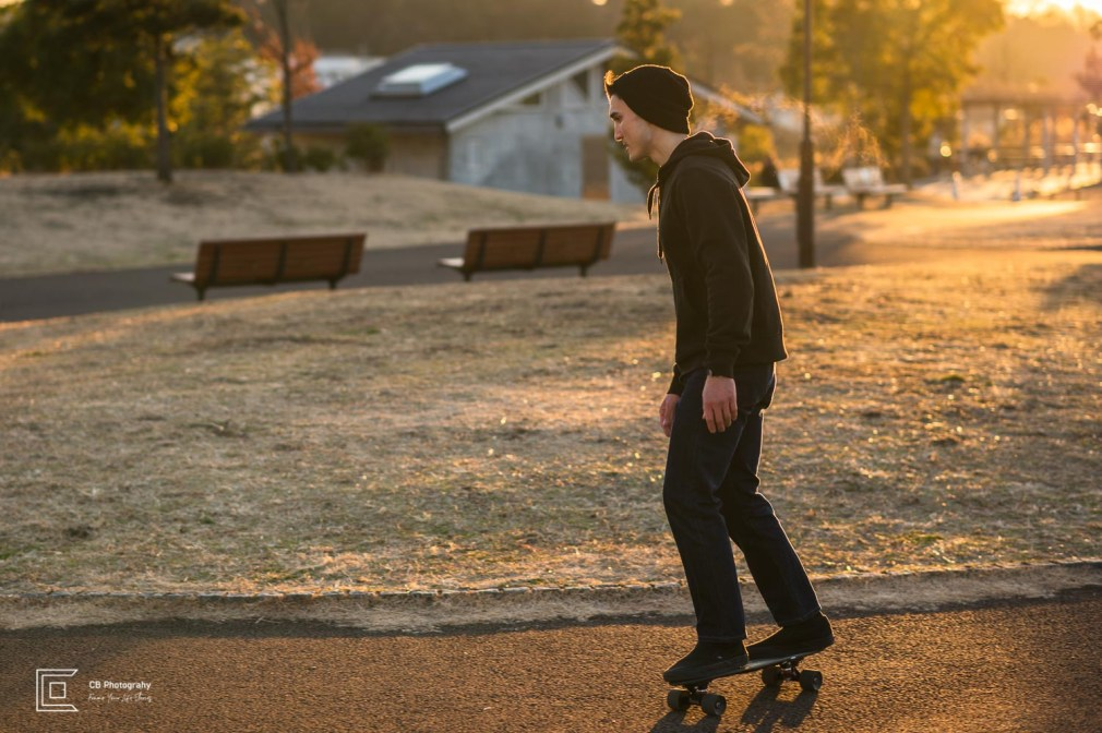 Sunrise skateboarding portraits