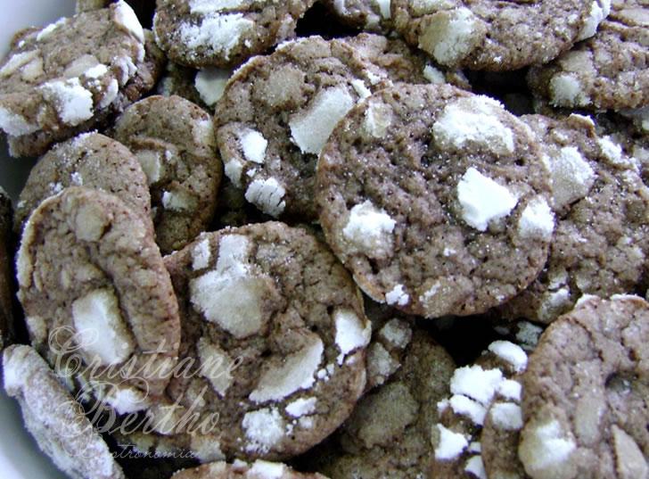 receita de biscoito tipo cookies de chocolate
