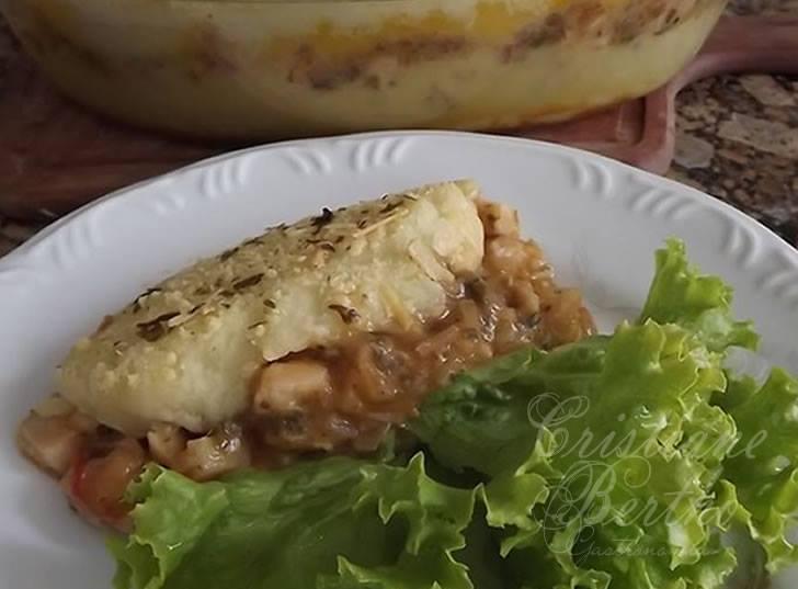 Madalena feita com batatas