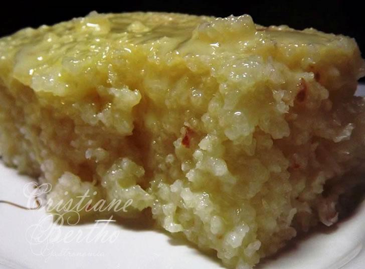 Receita típica de bolo de tapioca