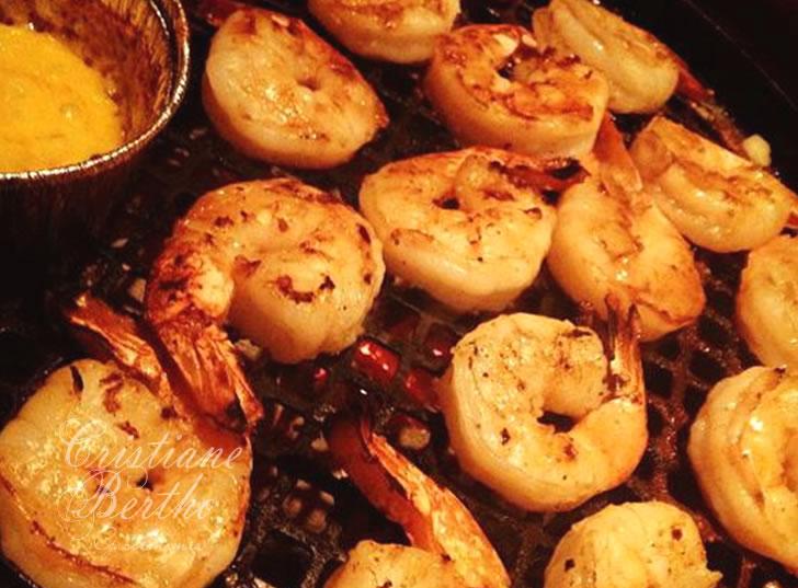 Receita Camarão grelhado com molho de mostarda